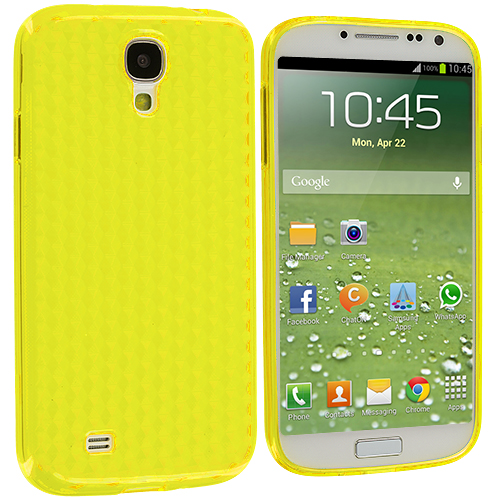Samsung Galaxy S4 Yellow Diamond TPU Rubber Skin Case Cover
