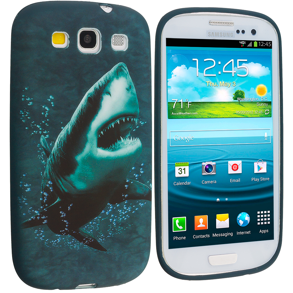 Samsung Galaxy S3 Shark TPU Design Soft Case Cover