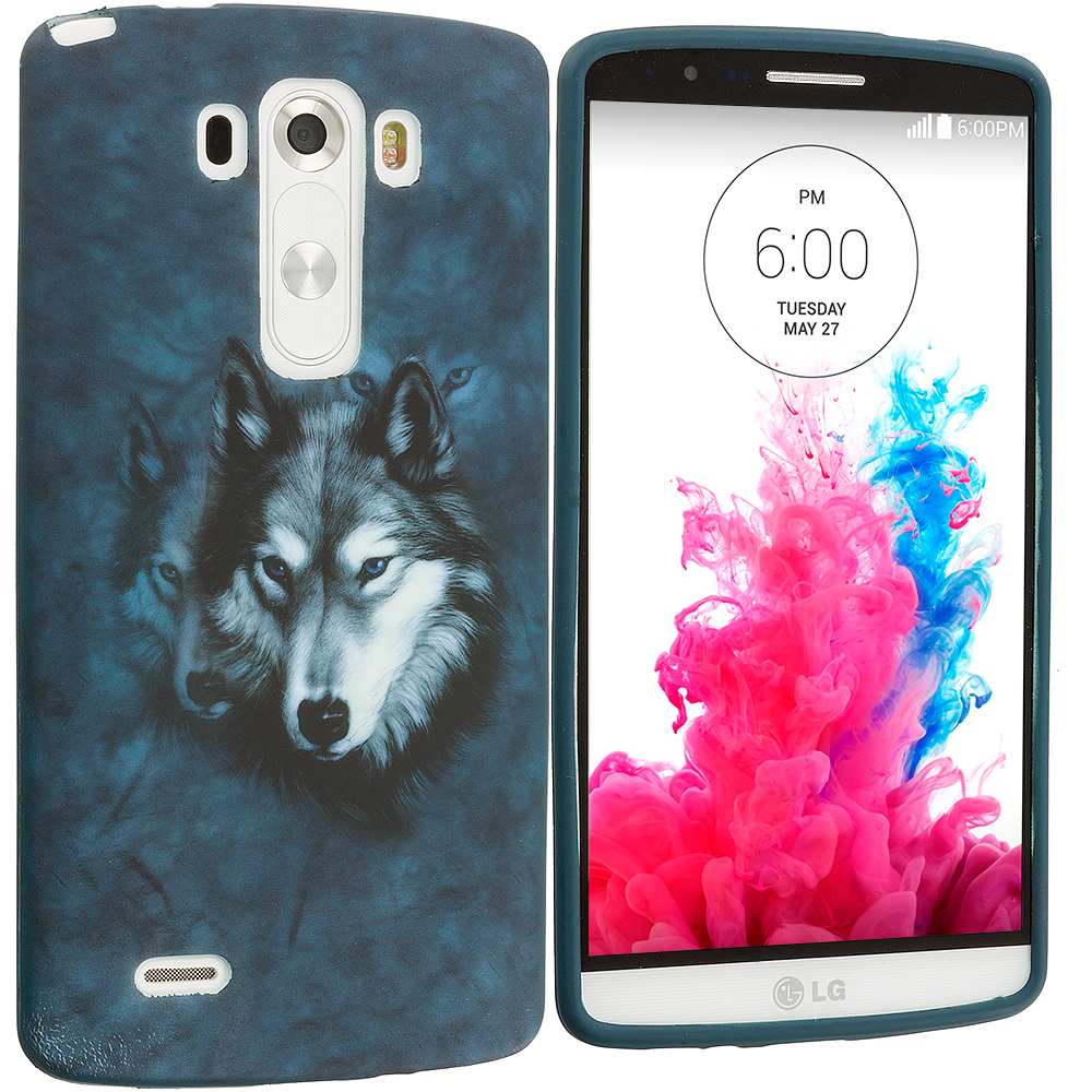 LG G3 Wolf TPU Design Soft Case Cover