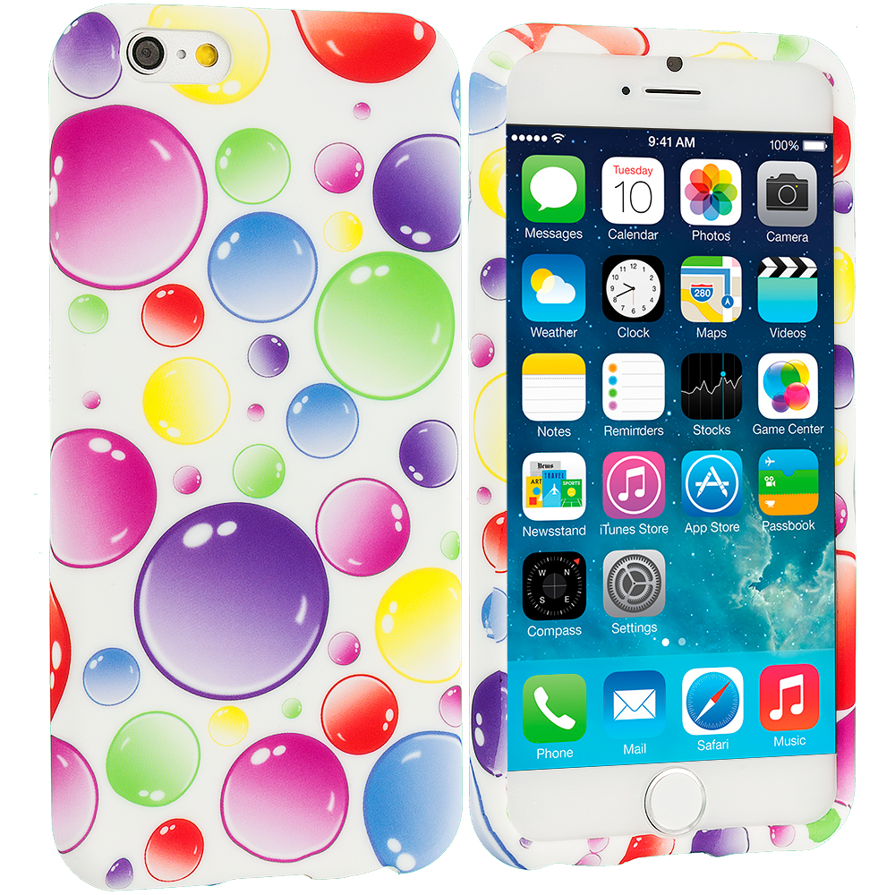 Apple iPhone 6 Plus 6S Plus (5.5) Bubbles TPU Design Soft Rubber Case Cover