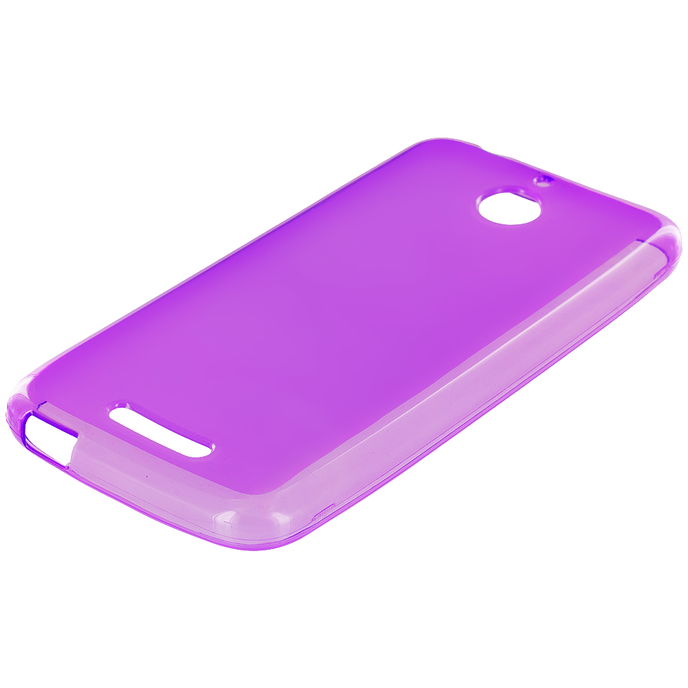 HTC Desire 510 Purple TPU Rubber Skin Case Cover