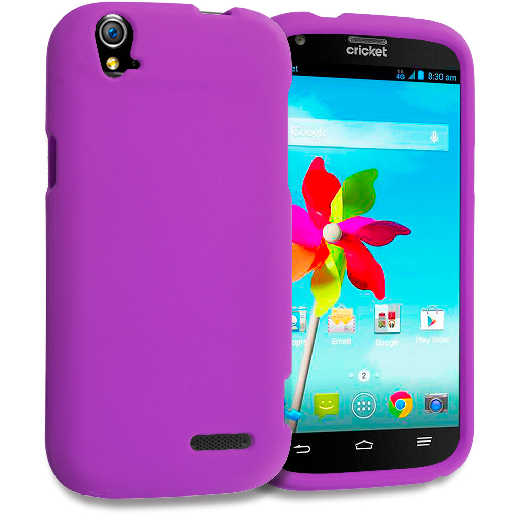 ZTE Grand X Z777 Purple Hard Rubberized Case Cover