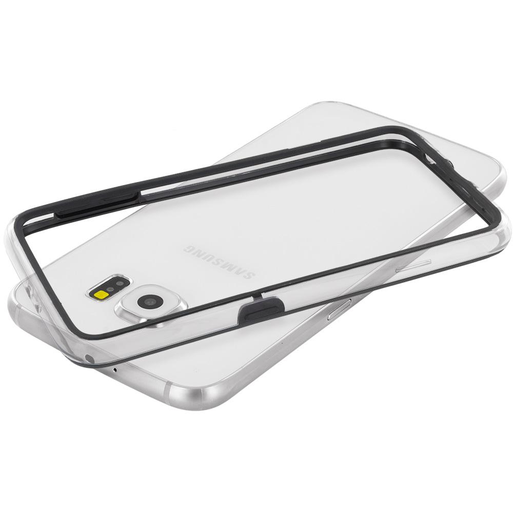 Samsung Galaxy S6 Black / Clear TPU Bumper Frame Case Cover