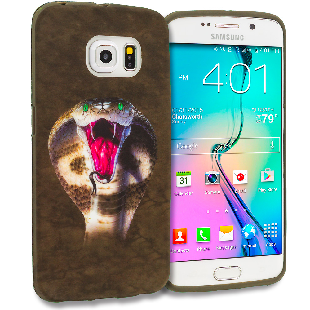 Samsung Galaxy S6 Edge Kobra TPU Design Soft Rubber Case Cover