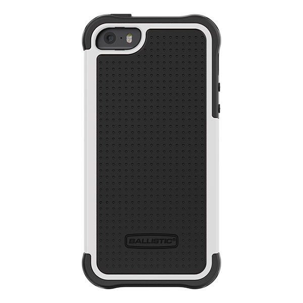 iPhone 5/5S/SE - Black/White Ballistic Tough Jacket Case Cover