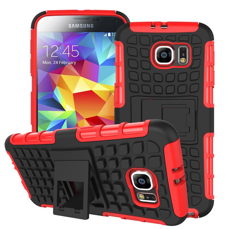 Samsung Galaxy S6 - Red MPERO IMPACT SR - Kickstand Case Cover