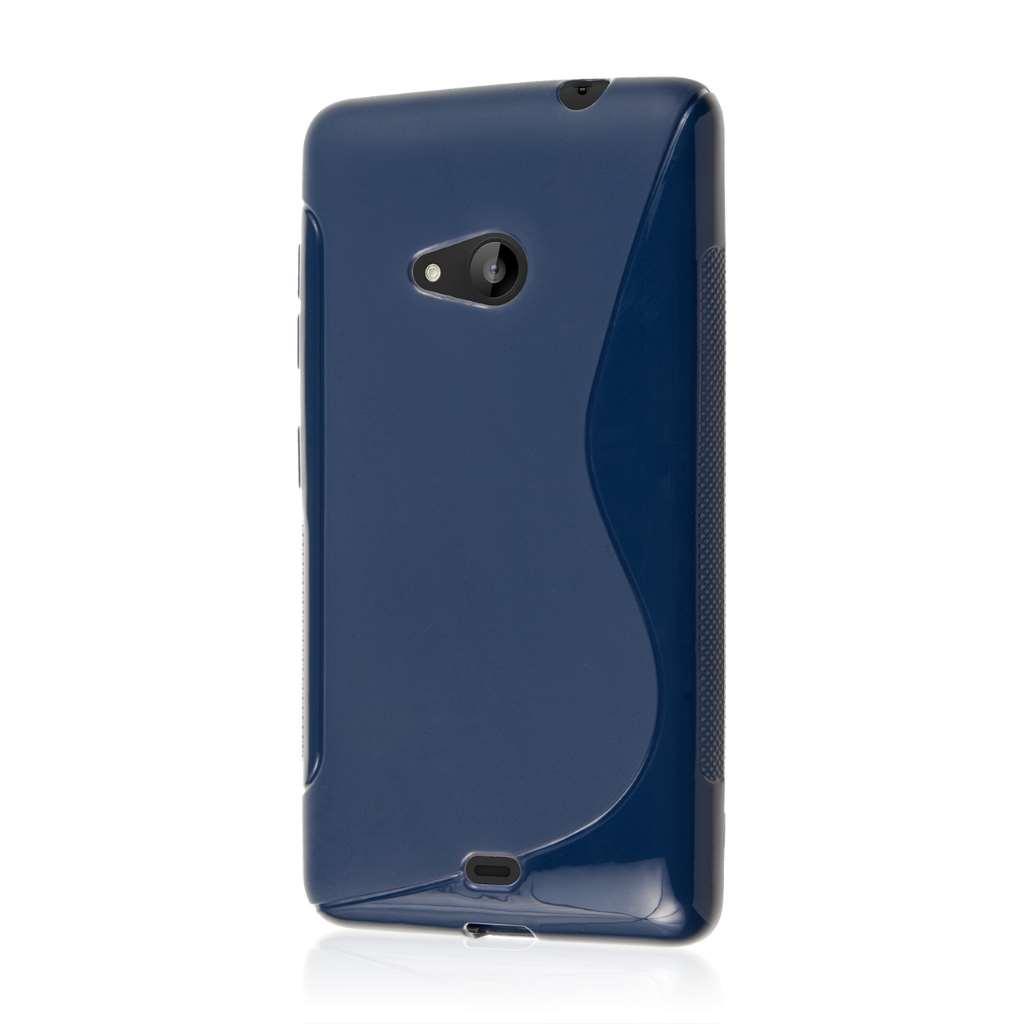 Microsoft Lumia 535 - Navy Blue MPERO FLEX S - Protective Case Cover
