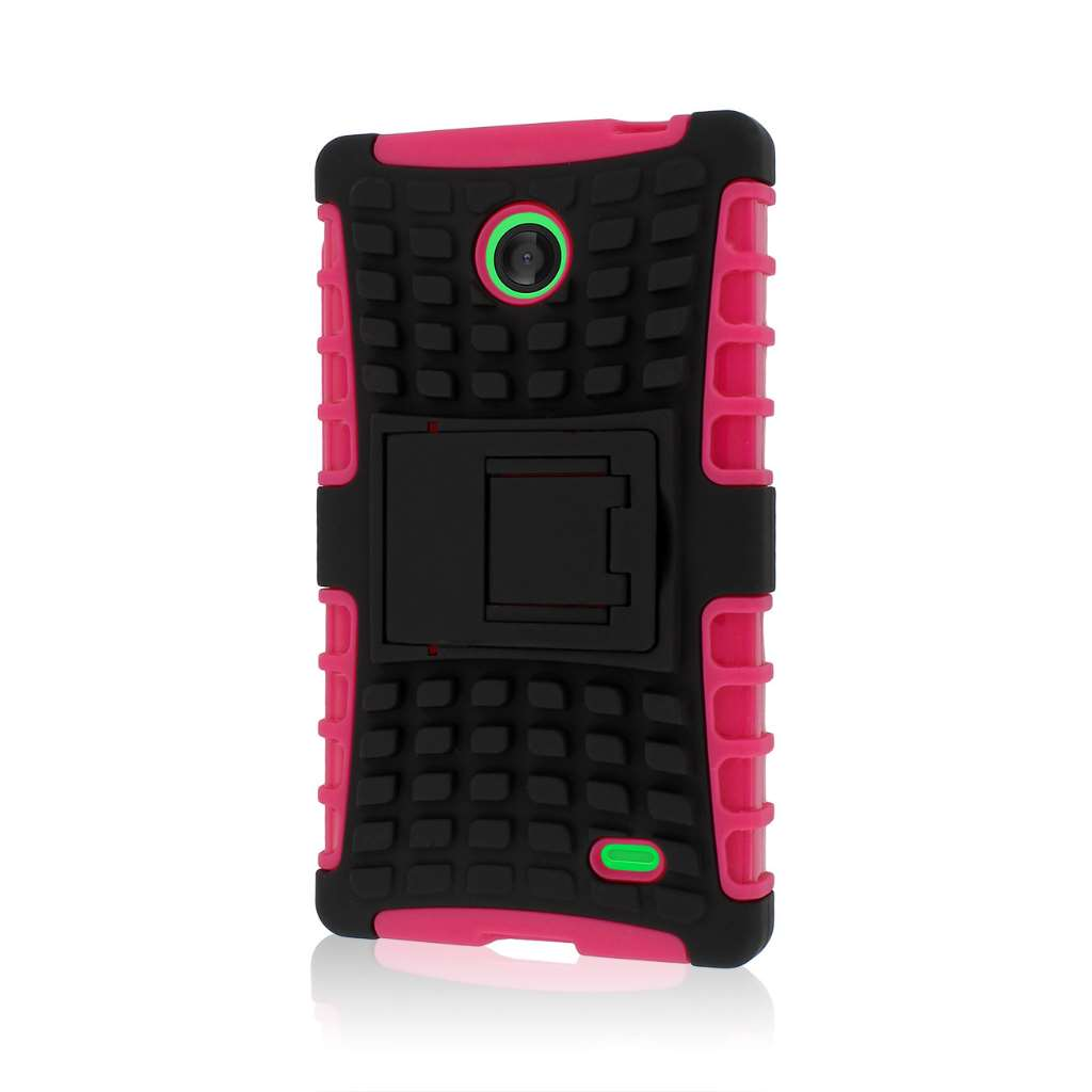 Nokia X - Hot Pink MPERO IMPACT SR - Kickstand Case Cover