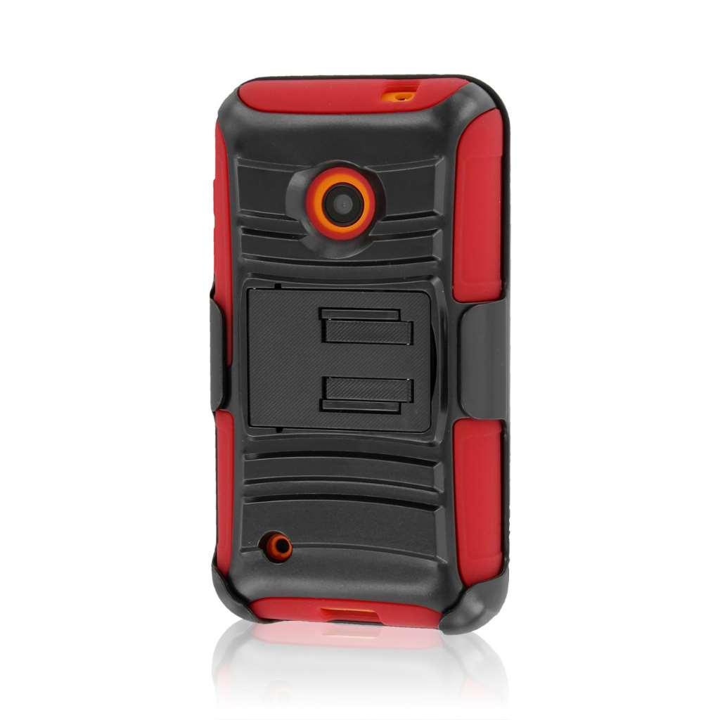 Nokia Lumia 530 - Red MPERO IMPACT XT - Kickstand Case Cover