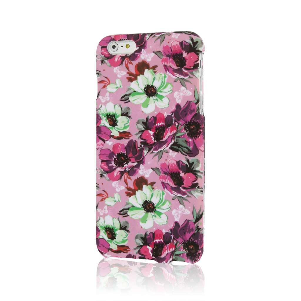 Apple iPhone 6 6S Plus - Vintage Pink Flower Combo Pack : MPERO SNAPZ - Case Cover : Color Vintage Pink Flower