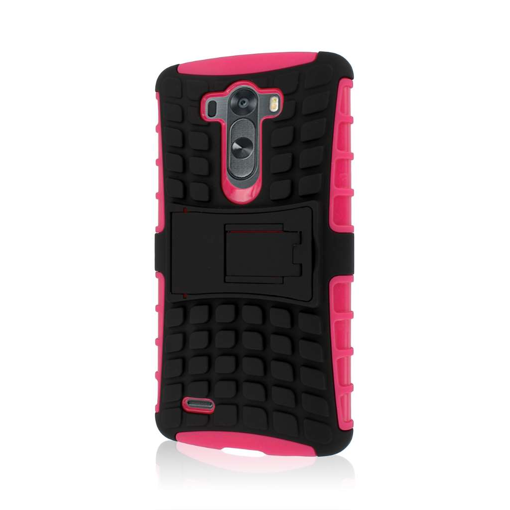 LG G3 - Hot Pink MPERO IMPACT SR - Kickstand Case Cover