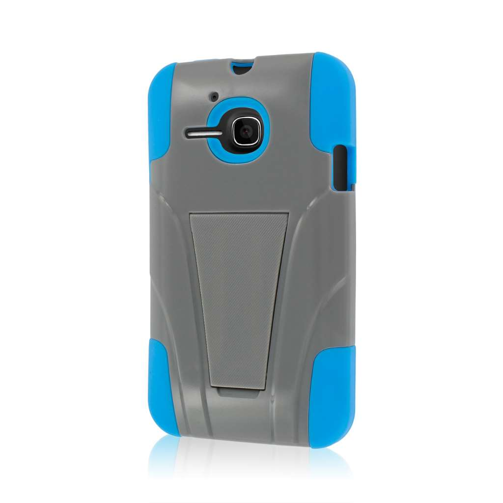 Alcatel OneTouch Evolve- GRAY/BLUE MPERO IMPACT X - Kickstand Case Cover