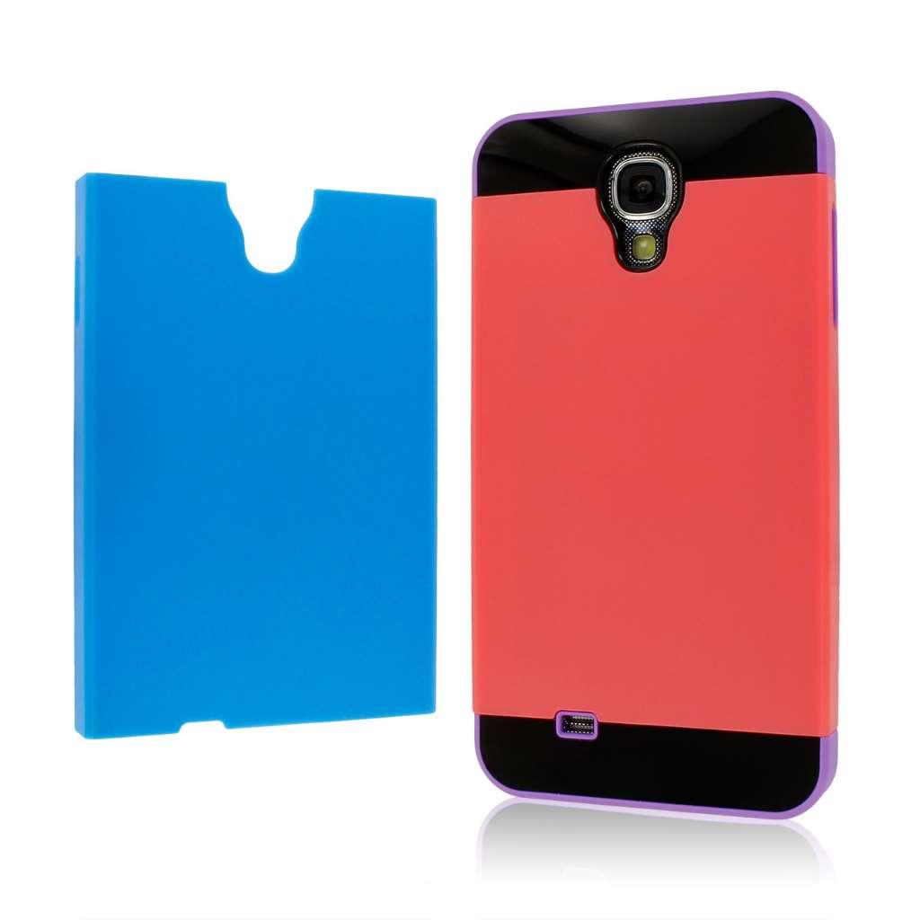 Samsung Galaxy S4 - Purple / Blue / Coral MPERO Fusion Fit - Protective Case