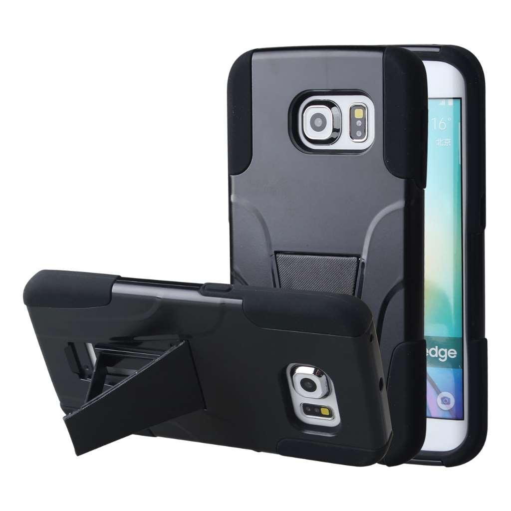 Samsung Galaxy S6 Edge - Black MPERO IMPACT X - Kickstand Case Cover