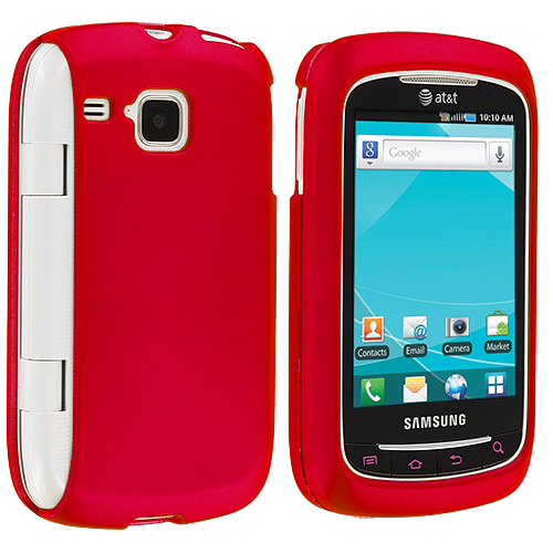 Samsung Doubletime i857 Red Hard Rubberized Case Cover