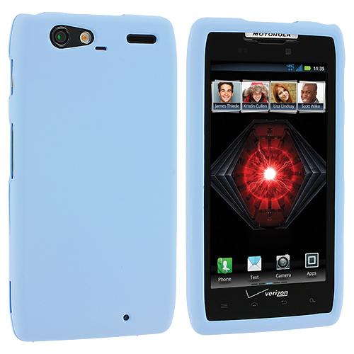 Motorola Droid Razr Maxx XT910 Baby Blue Hard Rubberized Case Cover