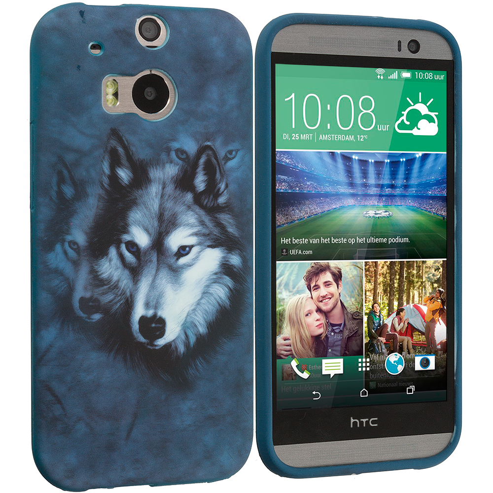 HTC One M8 Wolf TPU Design Soft Case Cover