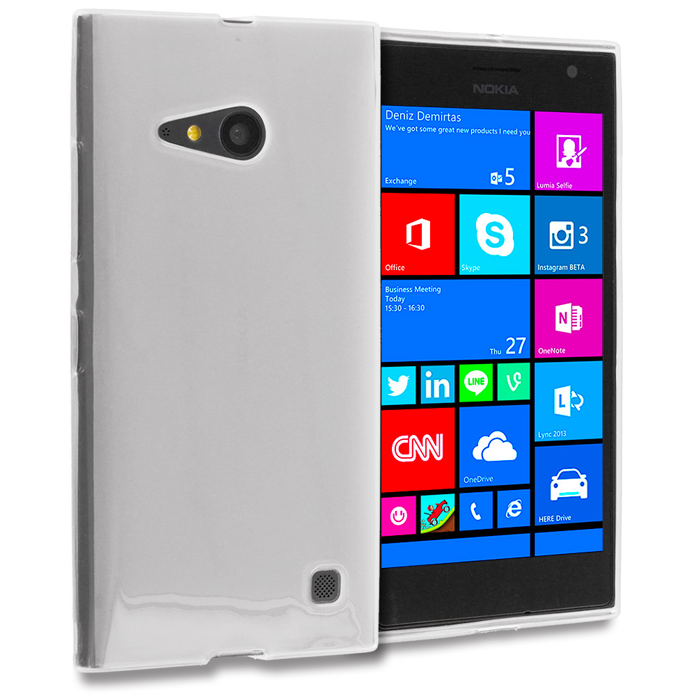 Nokia Lumia 730 735 Clear TPU Rubber Skin Case Cover