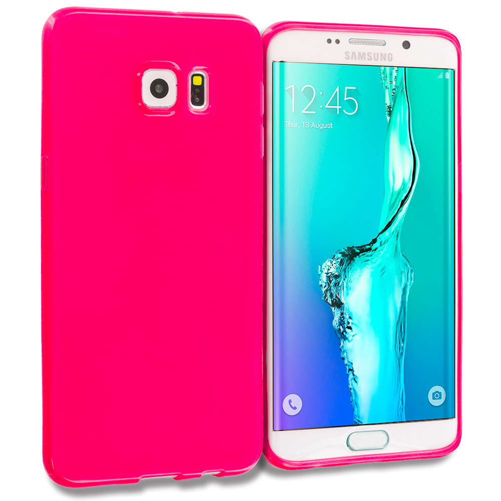 Samsung Galaxy S6 Edge Plus + Hot Pink TPU Rubber Skin Case Cover