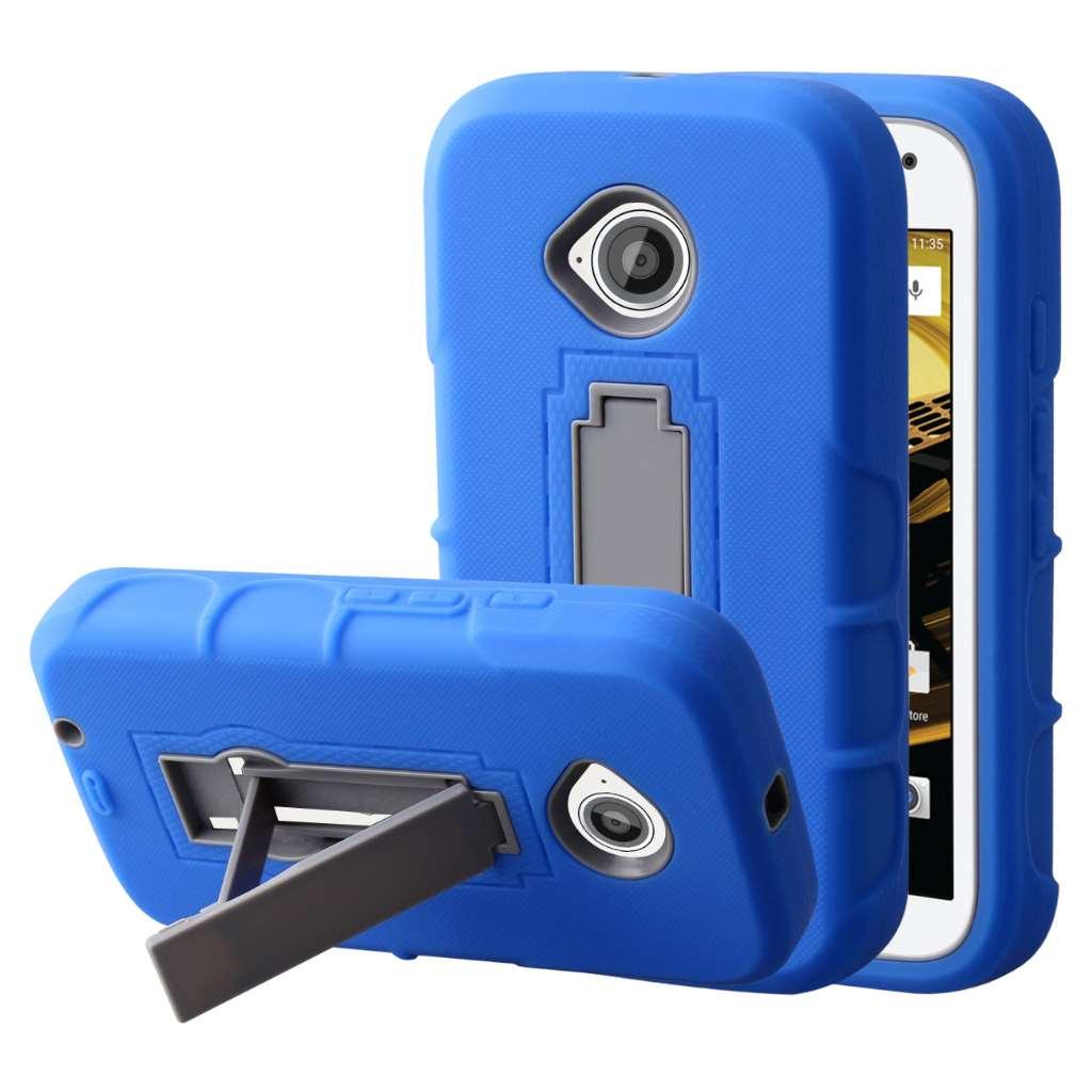 Motorola Moto E 2nd Generation - Blue MPERO IMPACT XS - Kickstand Case Cover