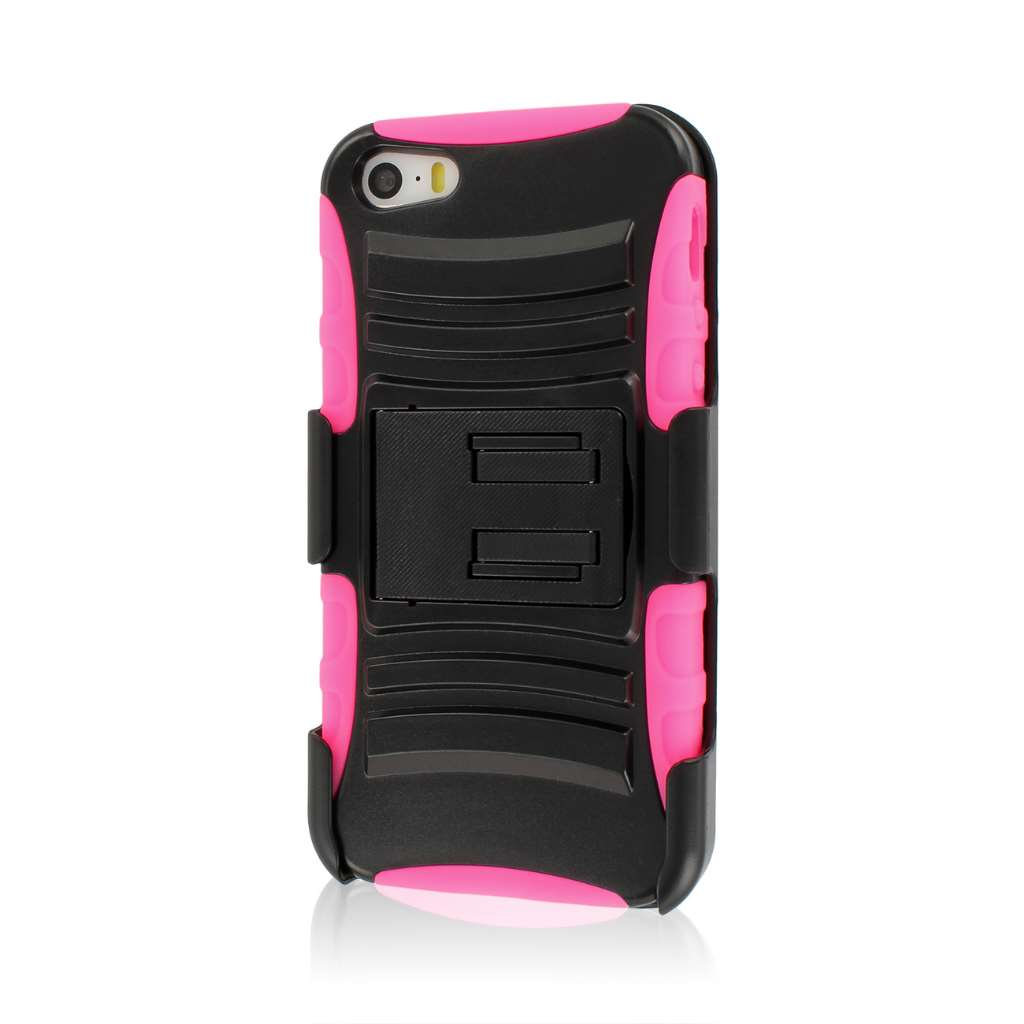 Apple iPhone 5/5S/SE - Pink MPERO IMPACT XT - Stand Case and Belt Holster