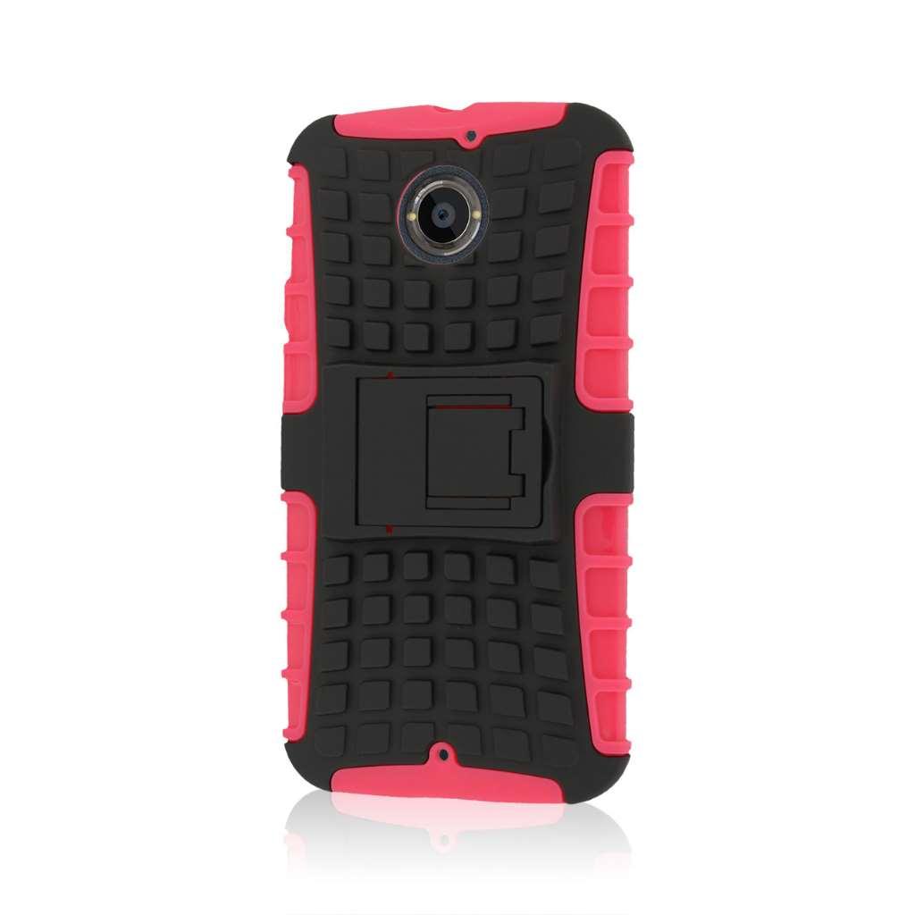 Motorola Moto X 2014 2nd Gen - Hot Pink MPERO IMPACT SR - Kickstand Case