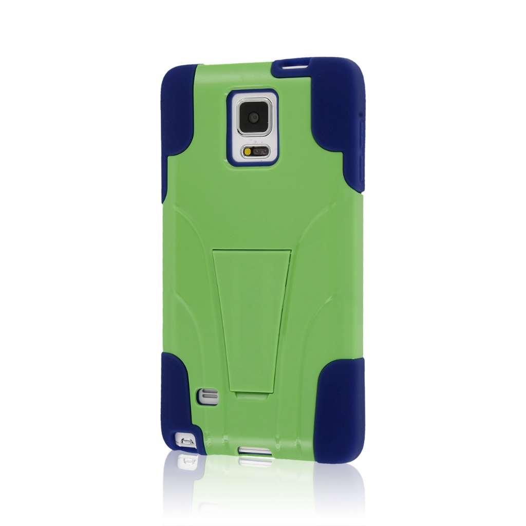 Samsung Galaxy Note 4 - Blue / Green MPERO IMPACT X - Kickstand Case Cover
