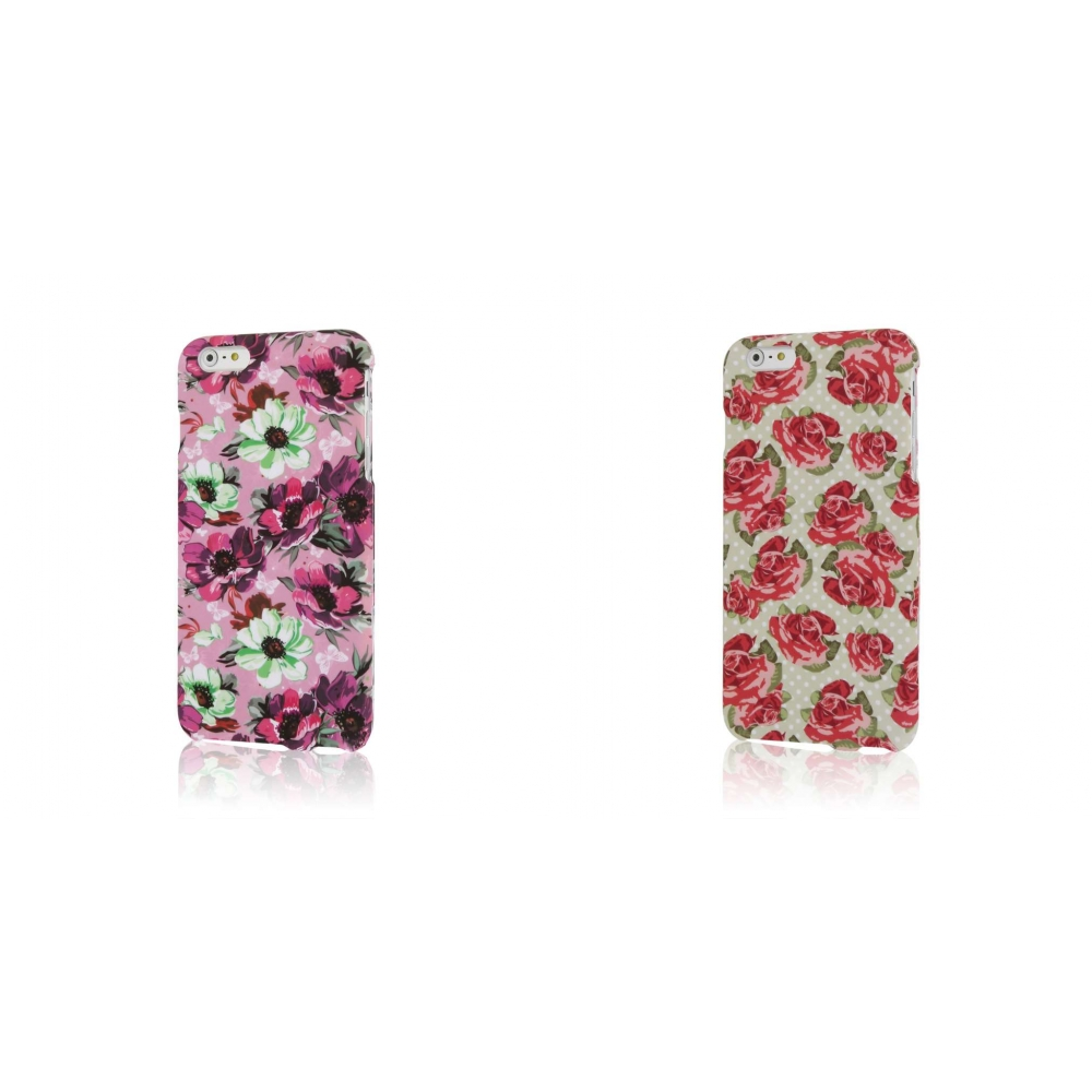 Apple iPhone 6 6S Plus - Vintage Pink Flower Combo Pack : MPERO SNAPZ - Case Cover