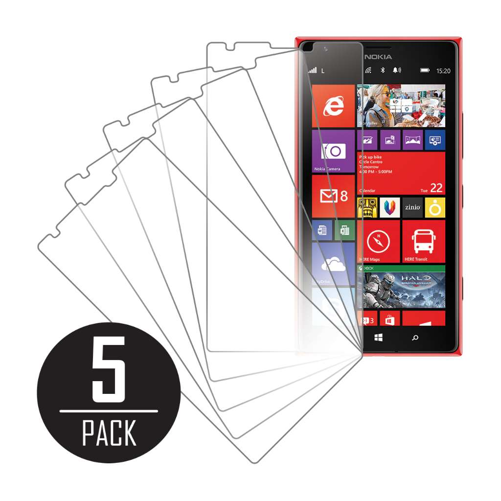 Nokia Lumia 1520 MPERO 5 Pack of Clear Screen Protectors