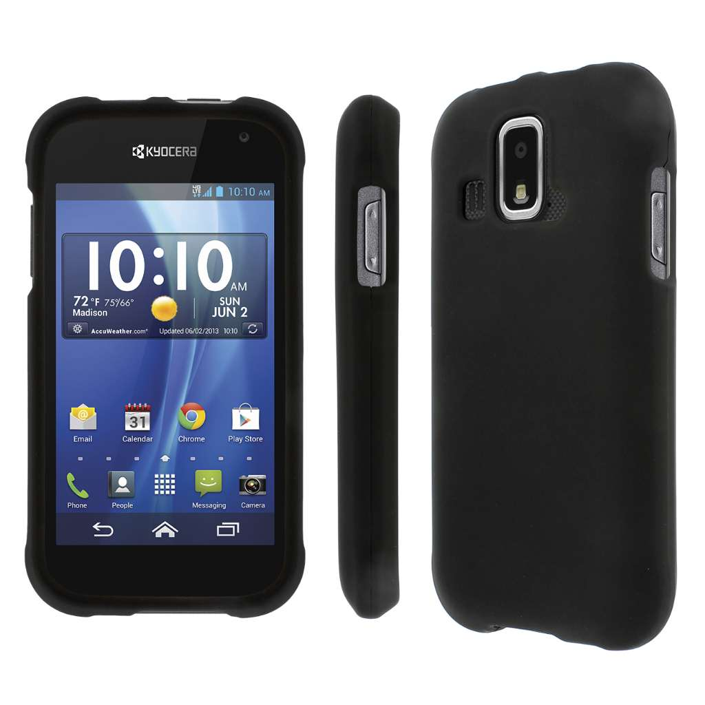 Kyocera Hydro XTRM MPERO Full Protection Hard Rubberized Black Case Cover