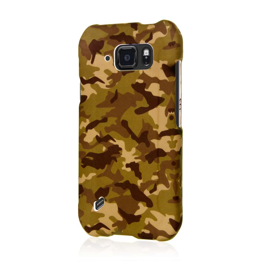 Samsung Galaxy S6 Active - Green Camo MPERO SNAPZ - Case Cover