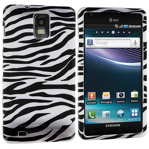 Samsung Infuse 4G i997 Black / White Zebra Design Crystal Hard Case Cover