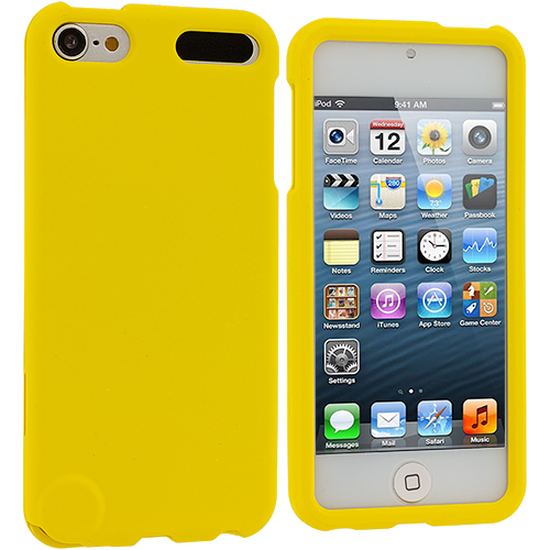 Apple iPod Touch 5th 6th Generation Yellow Hard Rubberized Case Cover
