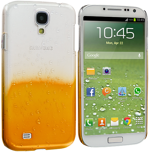 Samsung Galaxy S4 Orange Crystal Raindrop Hard Case Cover