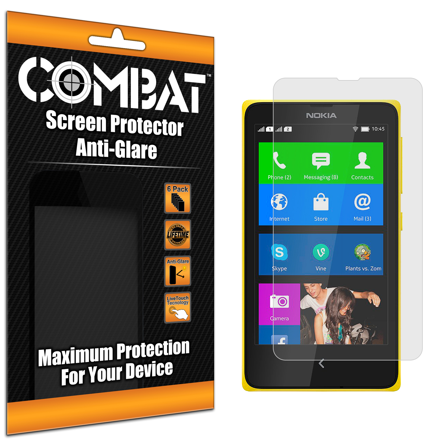 Nokia X Combat 6 Pack Anti-Glare Matte Screen Protector