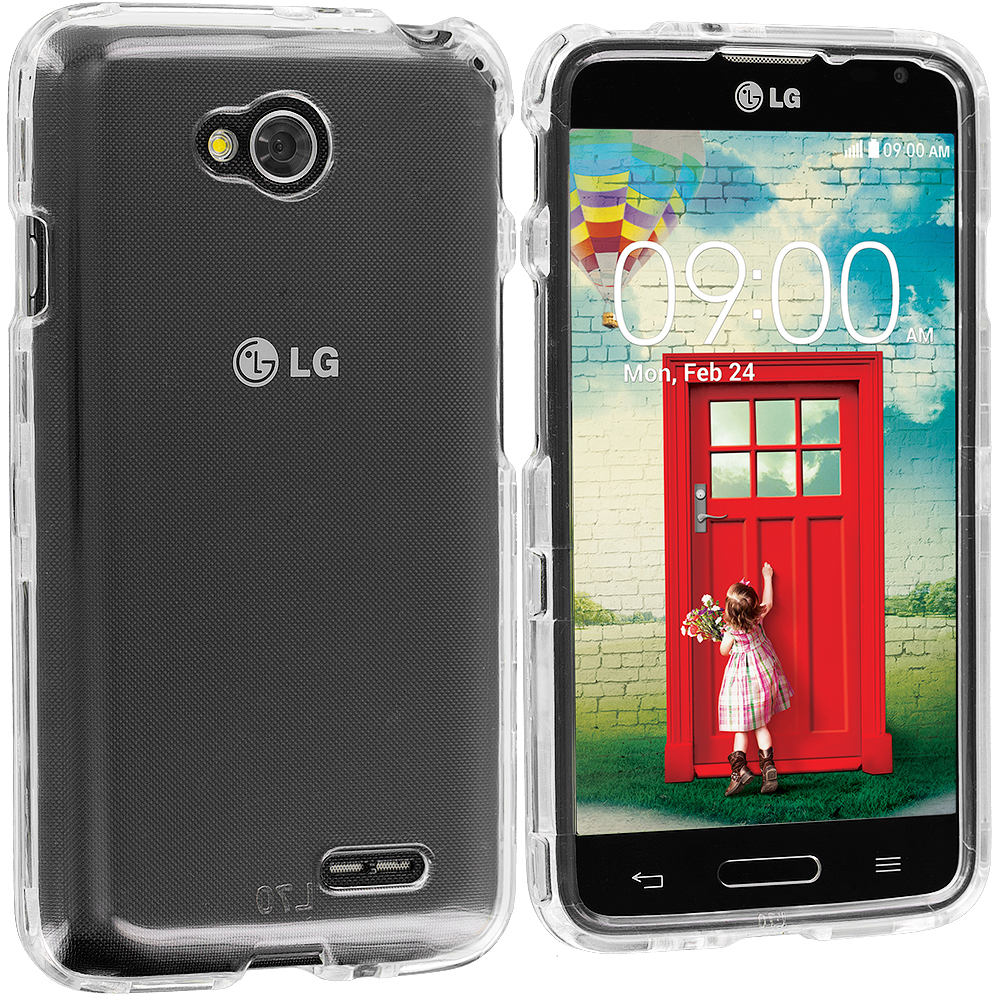 LG Optimus L70 Exceed 2 Realm LS620 Clear Crystal Transparent Hard Case Cover