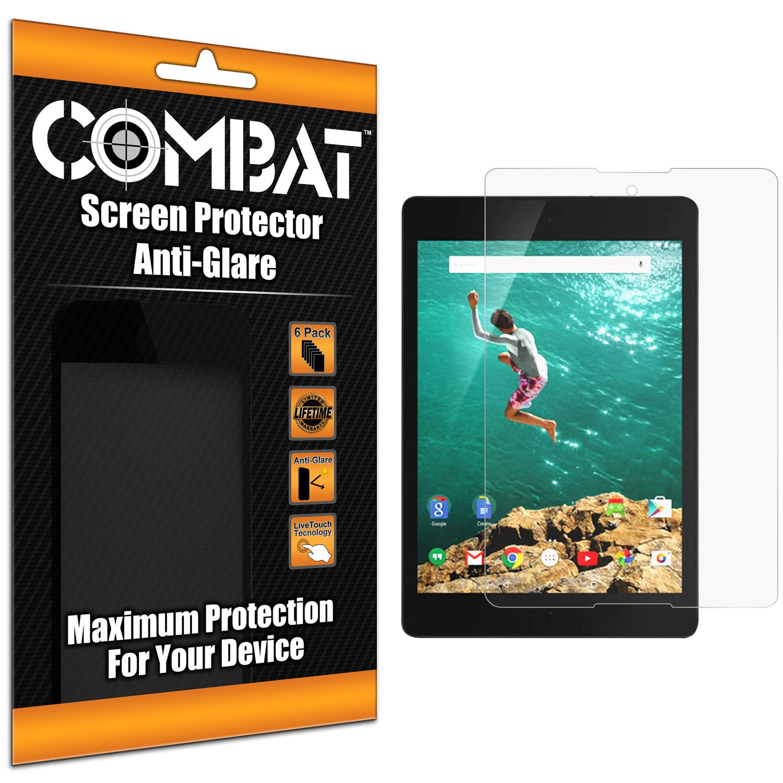 Google Nexus 9 Tablet Anti Glare Combat 6 Pack Anti-Glare Matte Screen Protector