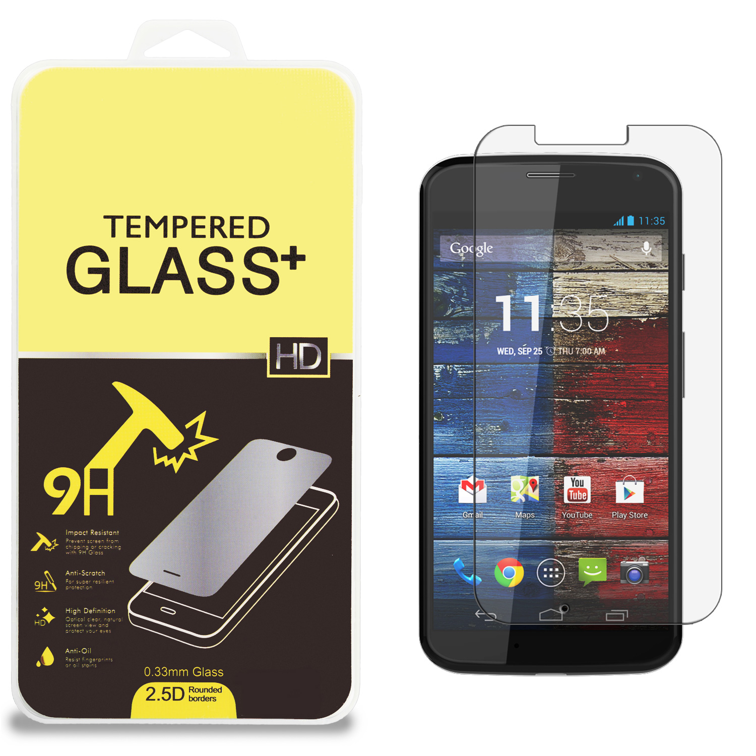 Motorola Moto X Clear Tempered Glass High Quality 0.33mm LCD Screen Protector