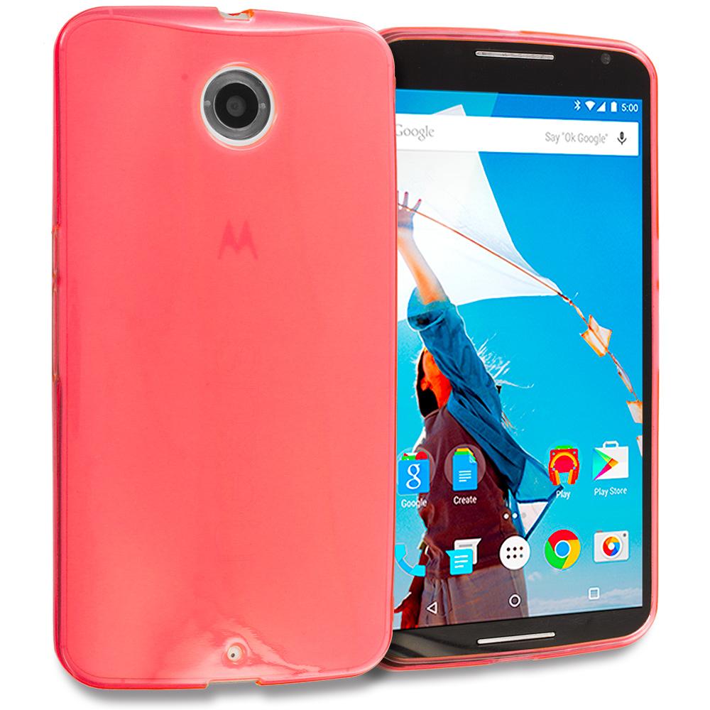 Motorola Google Nexus 6 Red TPU Rubber Skin Case Cover