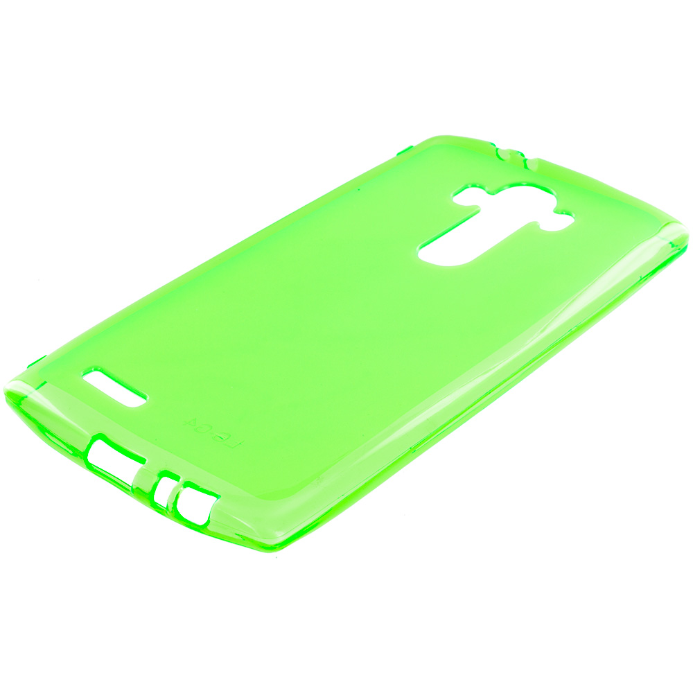 LG G4 Neon Green TPU Rubber Skin Case Cover