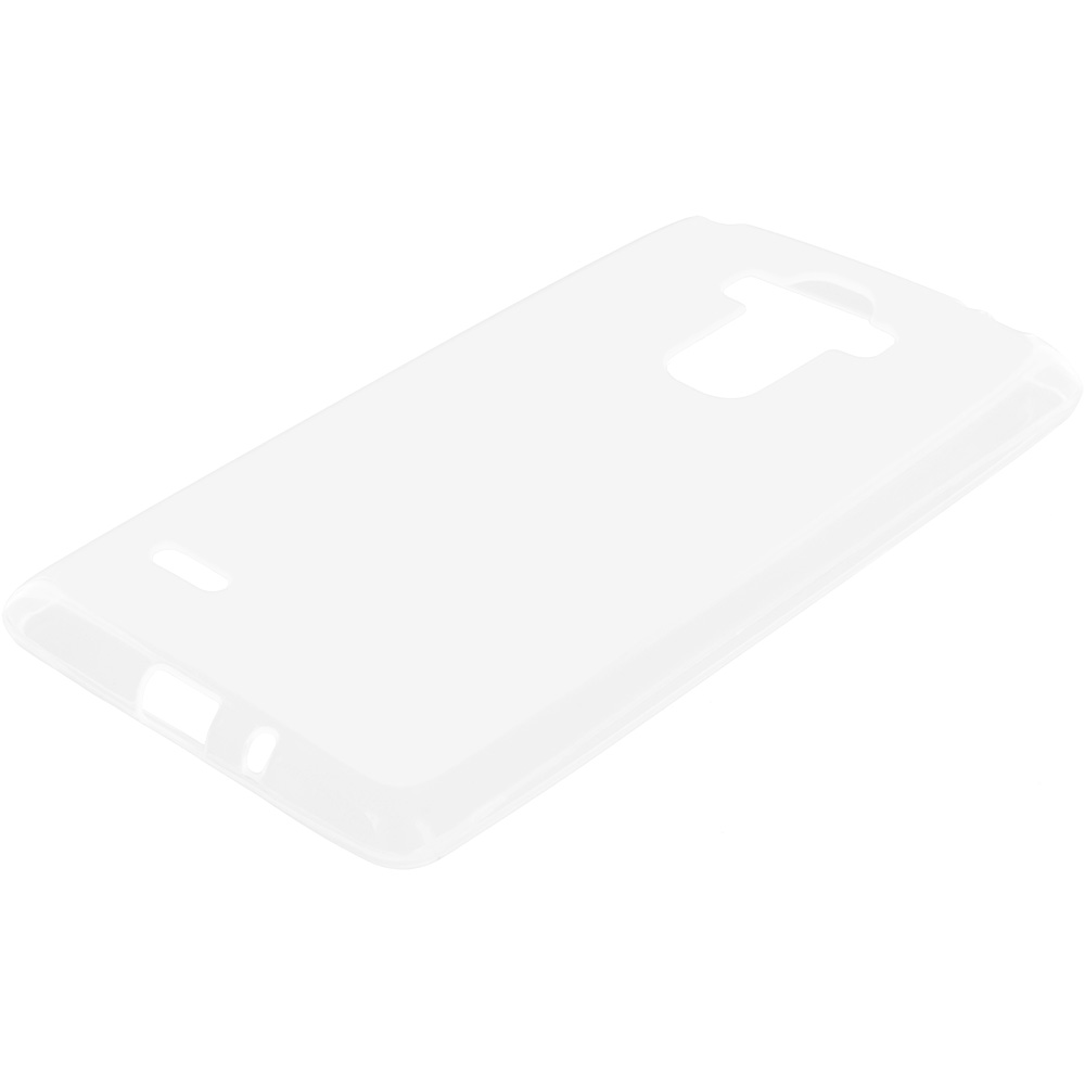 LG G Stylo LS770 / G4 Stylus Clear TPU Rubber Skin Case Cover