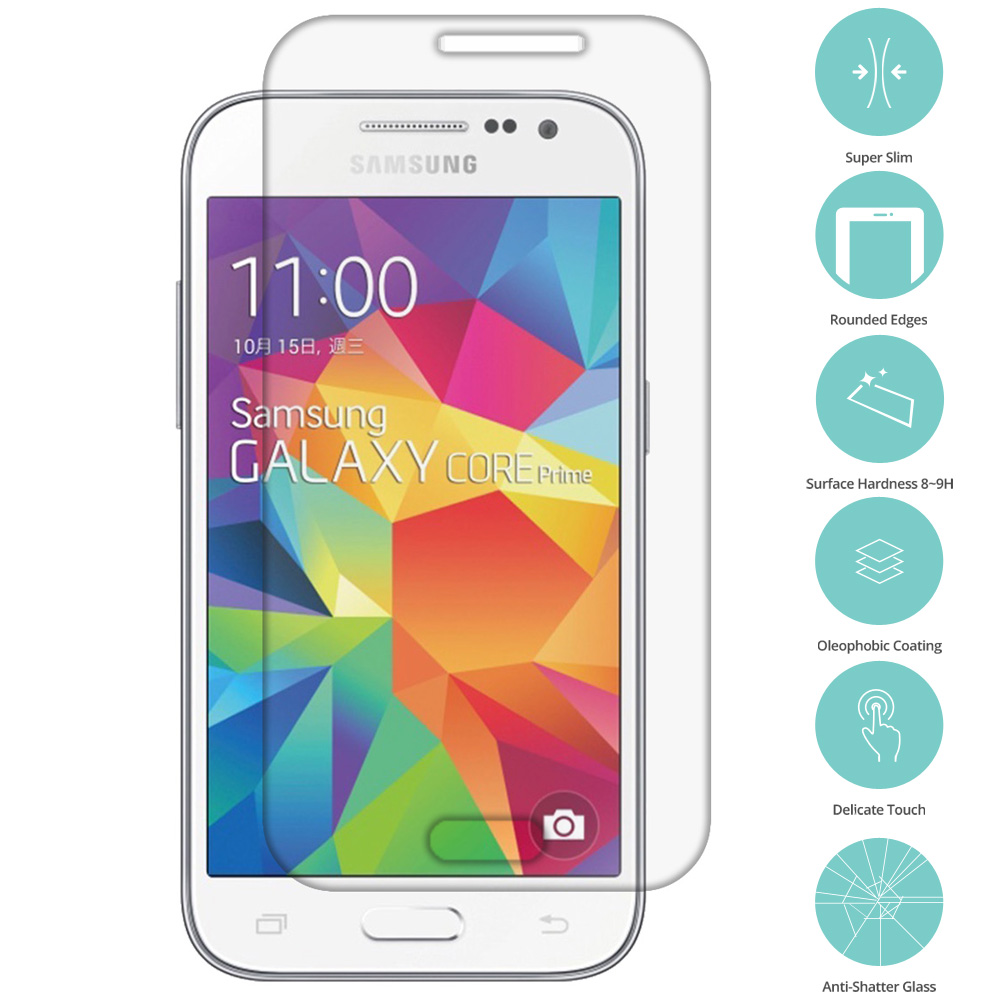 Samsung Galaxy Prevail LTE Core Prime G360P Clear Tempered Glass Film Screen Protector Clear