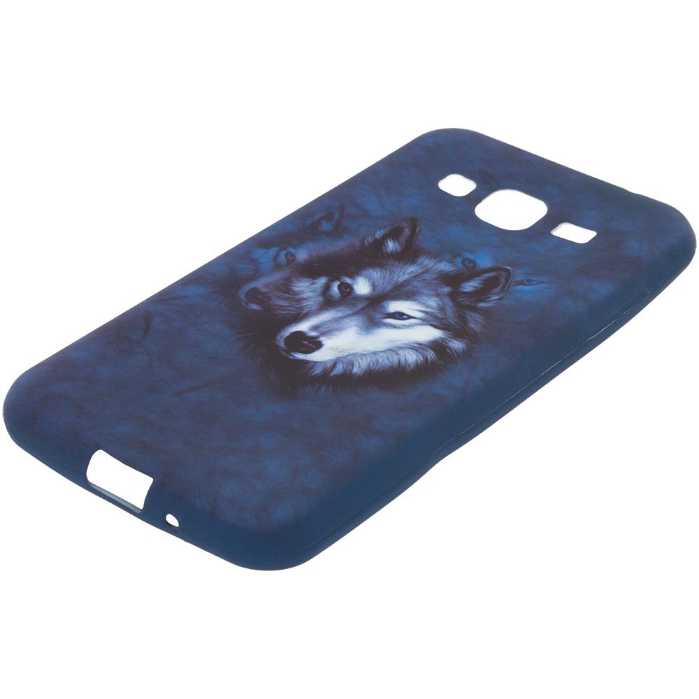 Samsung Galaxy J3 2016 Amp Prime Express Prime Wolf TPU Design Soft Rubber Case Cover