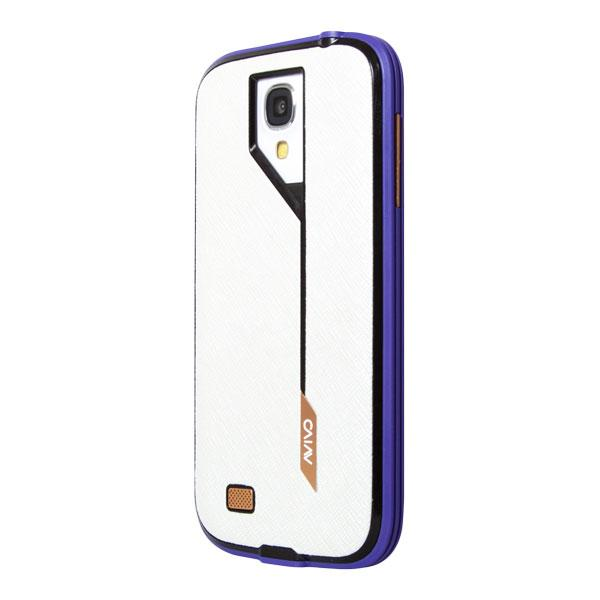 Samsung Galaxy S4 Avivo Violet Frame and White Hatch Jacket Case