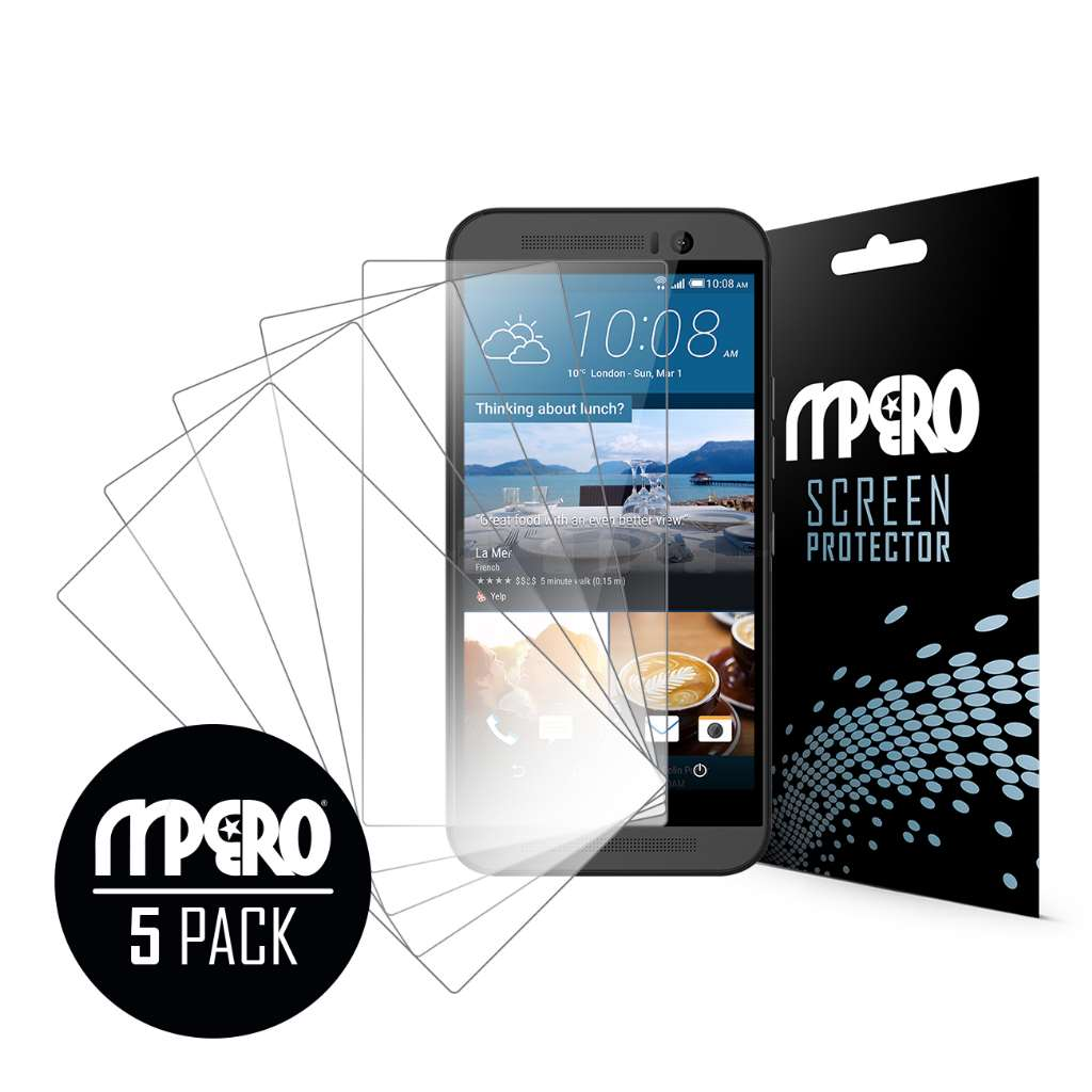 HTC One M9 MPERO 5 Pack of Ultra Clear Screen Protectors