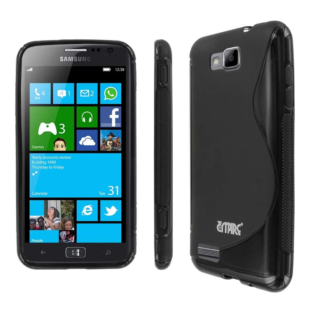 Samsung ATIV S MPERO Flexible S-Shape Poly Skin TPU Black Case Cover
