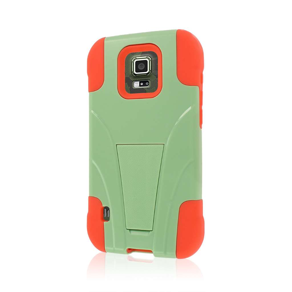 Samsung Galaxy S5 Active - Coral / Mint MPERO IMPACT X - Kickstand Case