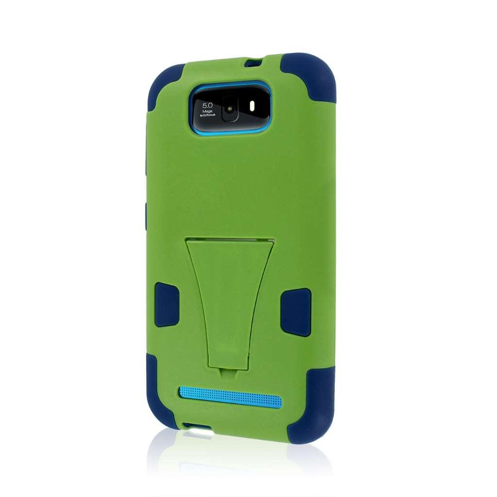 BLU Studio 5.5 - Blue / Green MPERO IMPACT X - Kickstand Case Cover