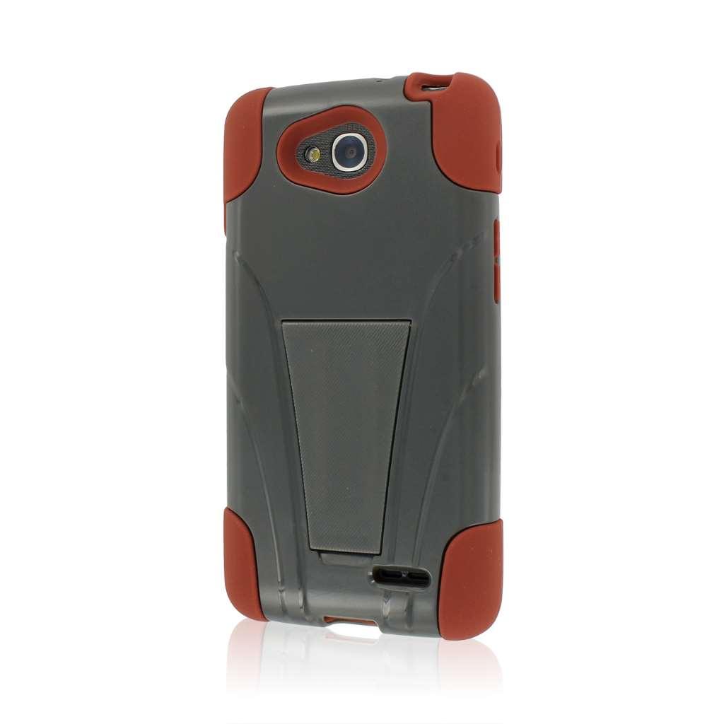 LG Optimus L90 - Sandstone / Gray MPERO IMPACT X - Kickstand Case Cover