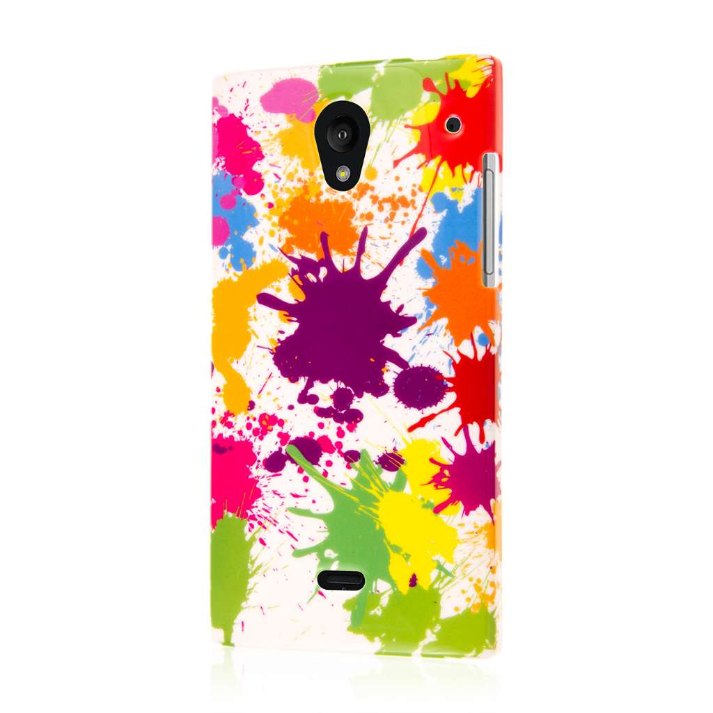 Sharp AQUOS Crystal - White Paint Splatter MPERO SNAPZ - Case Cover